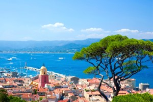 View over the Old Port of St Tropez