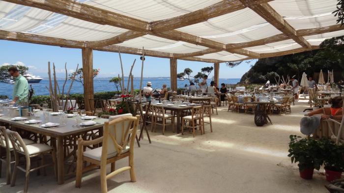 La Guérite restaurant on Iles des Lerins near Cannes