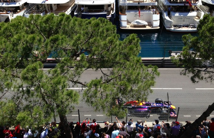 Yachts at Monaco Grand Prix