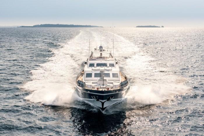 Yacht Antisan cruising Cannes, France