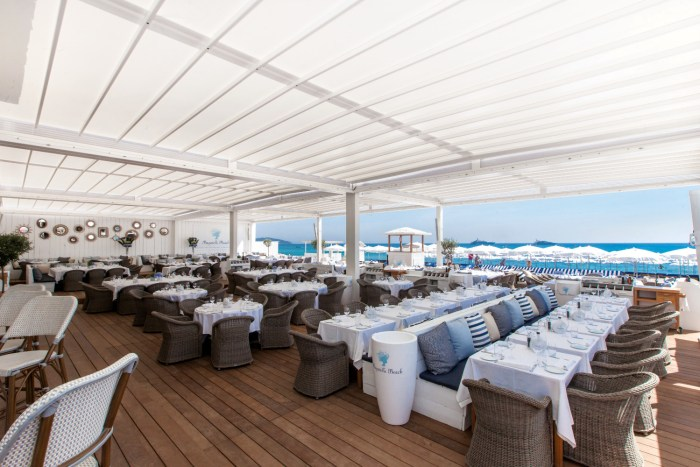 Bagatelle beach club in St Tropez