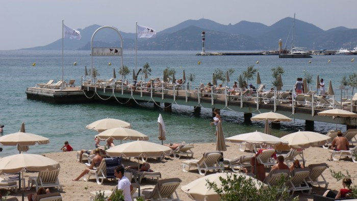 Baoli Beach in Cannes, French Riviera
