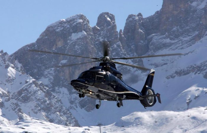Helicopter Courchevel
