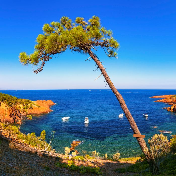 Stunning Esterel coast on the French Riviera