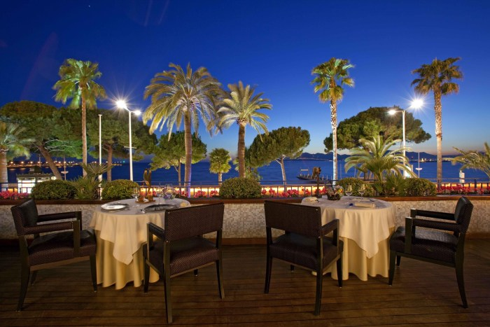 The Palme d'Or restaurant at the Martinez hotel in Cannes, France