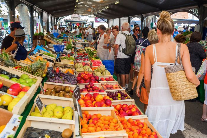 Forville market in Cannes, France