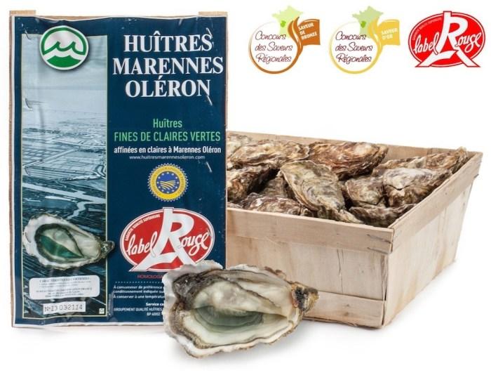 Fines de Claires oysters