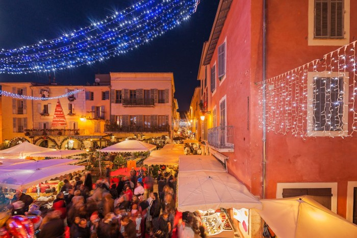 Christmas market in Valbonne on the French Riviera