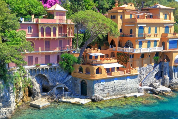 Waterfront villas in Portofino, Italy