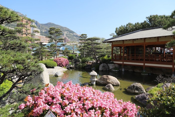 The Japanese garden in Monaco