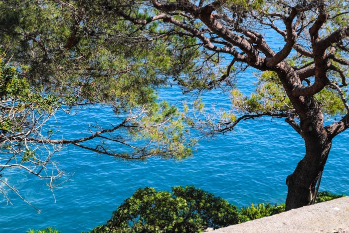 Blue Mediterranean sea in Monaco