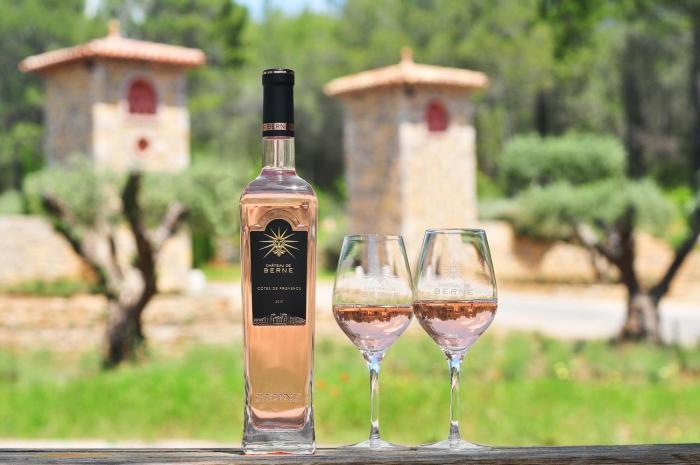 Chateau de Berne rose wine