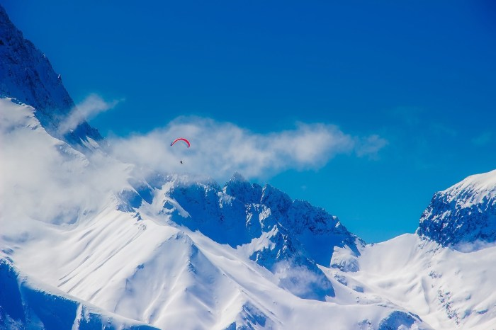 Paragliding French Alps