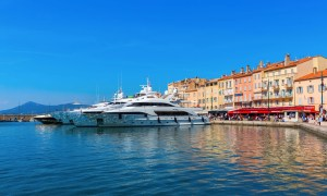 Superyachts in the port of Saint Tropez