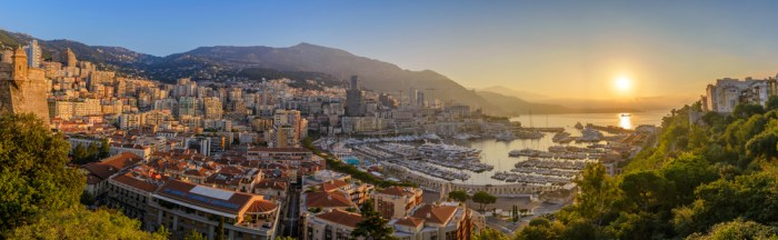 Monaco panorama at sunrise