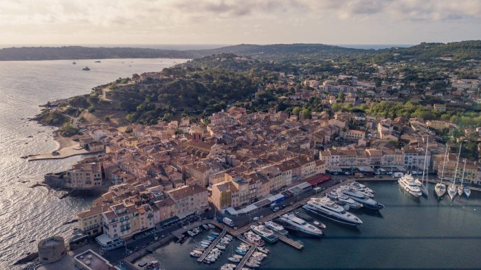 The port of St Tropez on the French Riviera in September