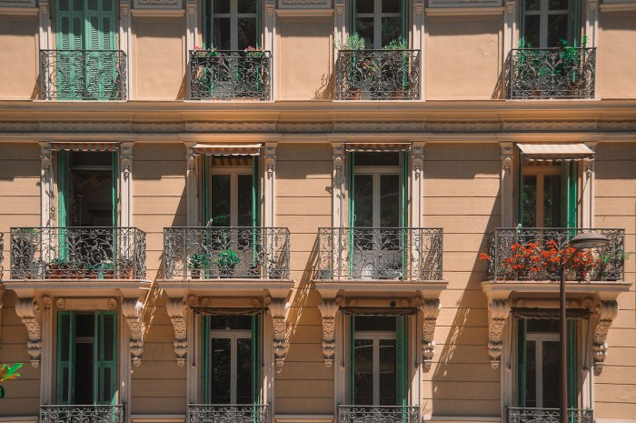 Building facades in Cannes, France