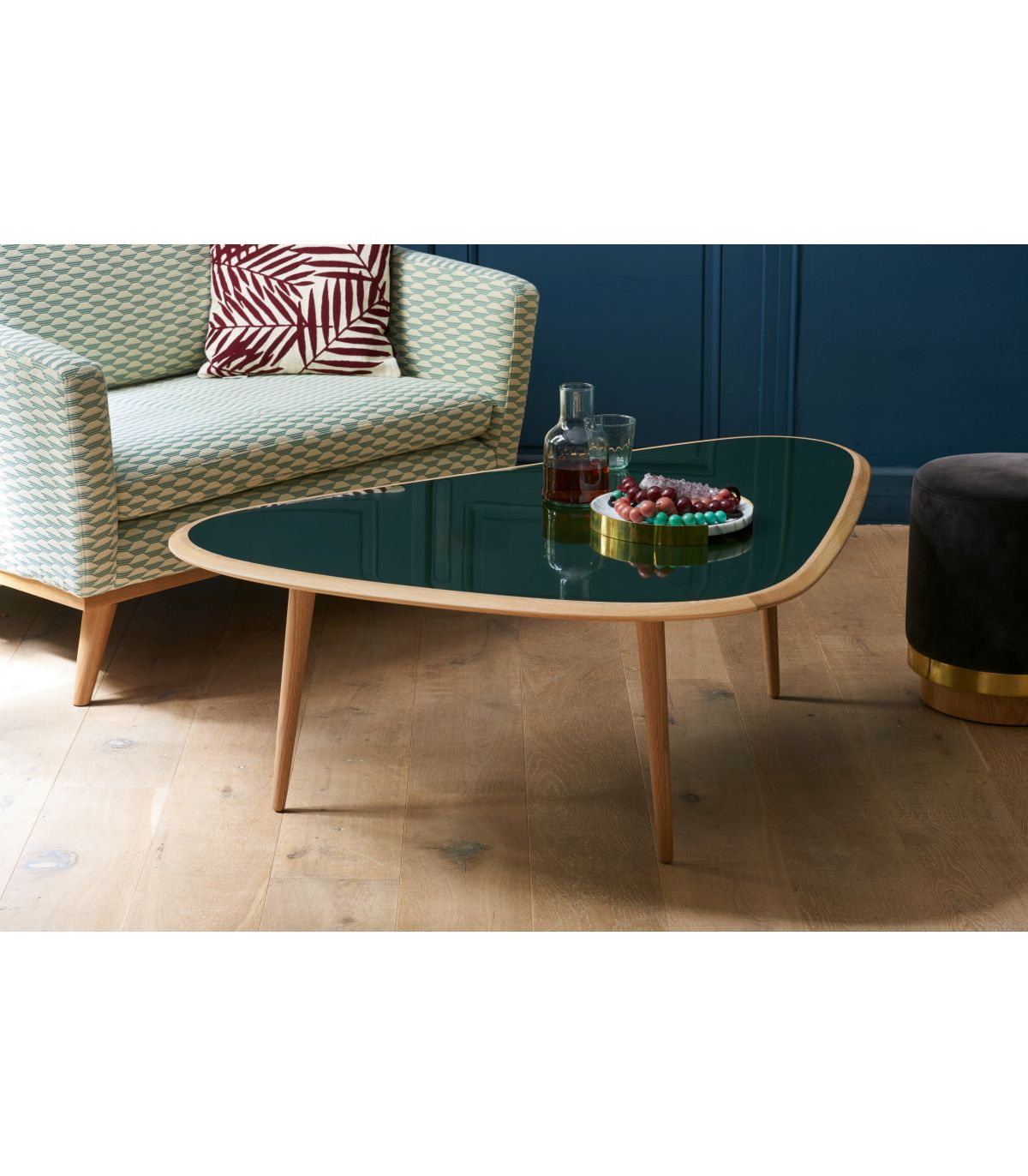 table basse small laque vert mineral red edition