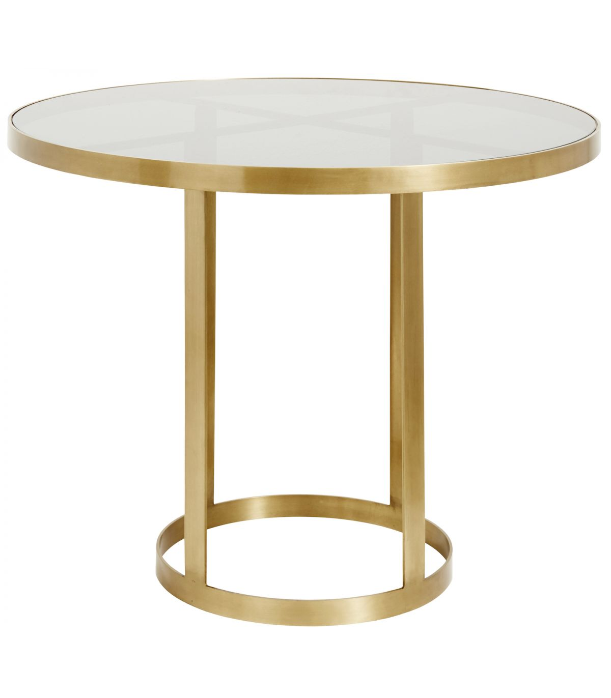 table ronde verre dore nordal