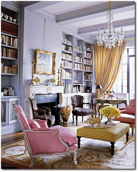 elle decor living room ideas Georgette Farkas - Grand Living Rooms - ELLE DECOR