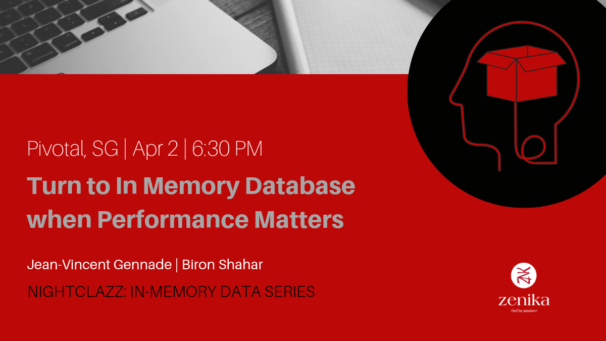 Join Jean - Vincent GENNADE and Biron Shahar from Redis Labs for an introduction to In Memory Database and learn how to implement in-memory data patterns with the help of Redis In-Memory Database solution.