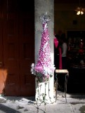 Being an Old Display Queen like I am, I could not pass up recording this fabulous pink and silver Christmas Tree outside a dress shop bordering Jackson Square.
