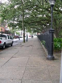Washington Square across from the Parkview Marigny.