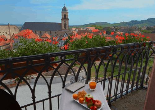 balcony at Hotel Val Vignes