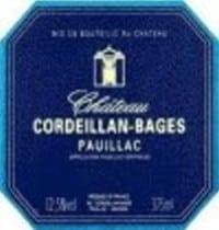 Ch Cordeillan Bages wine