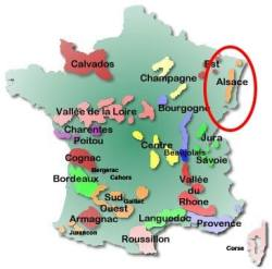 Wine map - Alsace