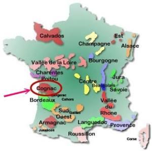 France map -Cognac