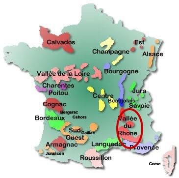 wine map - Rhone
