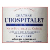Chateau l'Hospitalet wine label