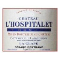Chateau l'Hospitalet wine label