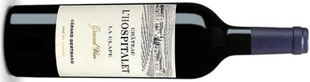 Chateau l'Hospitalet wine bottle