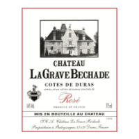 Chateau LaGrave Bechade Duras wine label