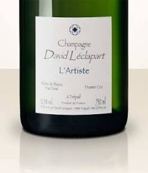 Champagne bottle label