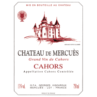 Chateau de Mercues Cahors wine label