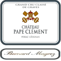 Chateau Pape Clement wine label