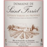 Domaine de Saint Ferreol Provence wine label