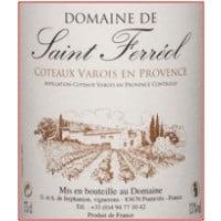 Domaine de Saint Ferreol Provence wine label