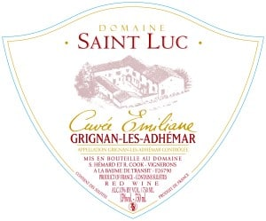 Domaine Saint Luc wine label