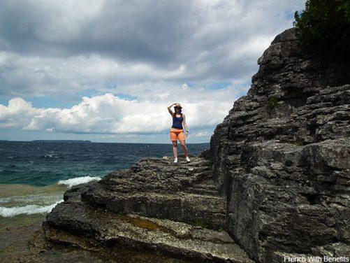 lisa-plage-rocher-bruce-peninsula
