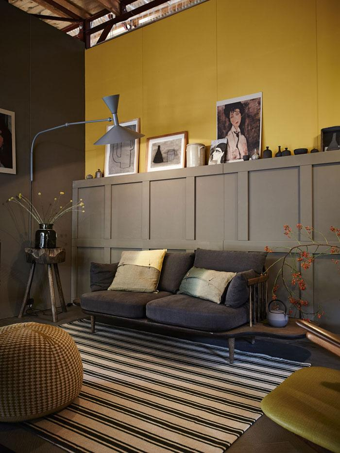Yellow Walls Living Room Interior Decor