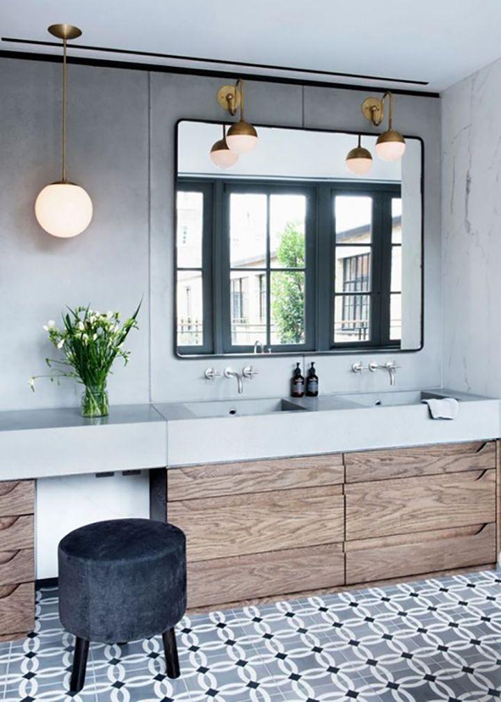 Une salle de bain en carreaux de ciment  Frenchy Fancy