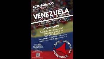 Mesa Redonda:  Venezuela: la lucha por su soberanía