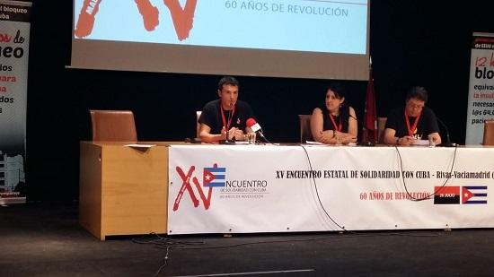 Se celebró el XV Encuentro Estatal de Solidaridad con Cuba
