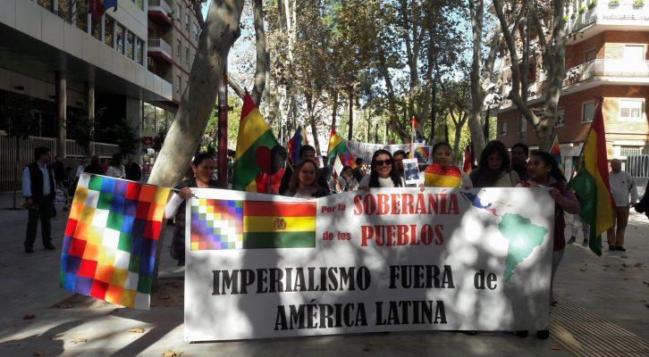 Murcia: Marcha Contra el golpe de estado en Bolivia