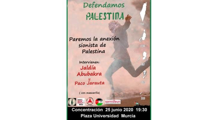 Paremos la anexión sionista de Palestina