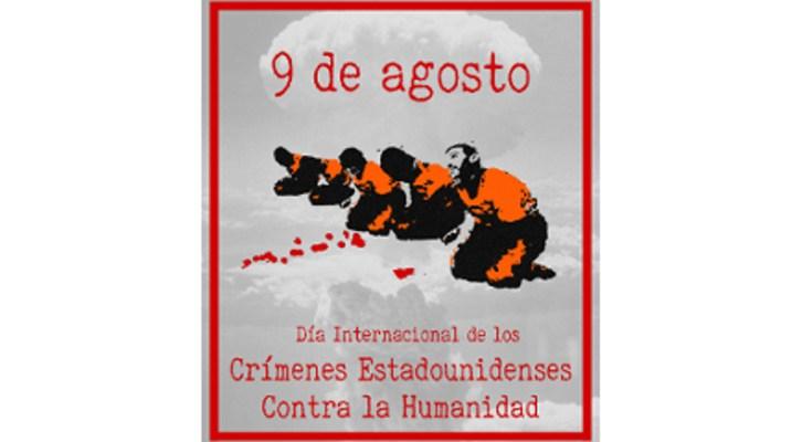 Recogida de firmas por la declaración del 9 de agosto como Día Internacional de los Crímenes Estadounidenses Contra la Humanidad